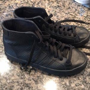 Adidas Black High Top Sneakers